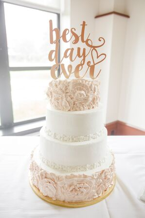 """""""Best Day Ever"""" Wedding Cake Topper"""