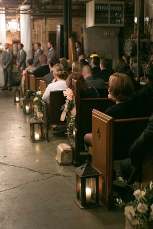 Lantern Lined Ceremony Aisles