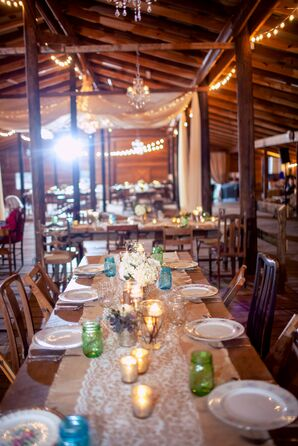 Shabby-Chic Reception Tablescape