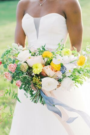 Bridal Bouquet at The Farmhouse in Montgomery, Texas