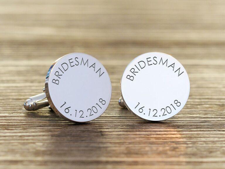 Bridesman cuff links