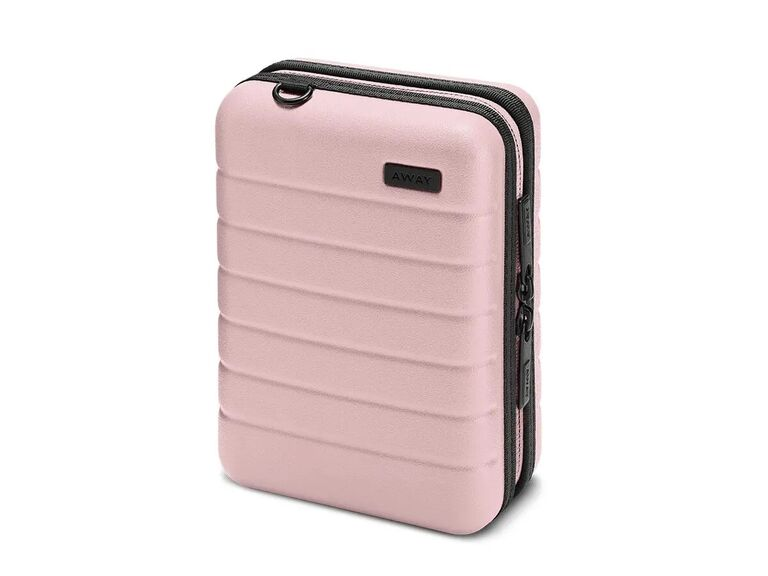 Pink mini luggage case for jewelry and small items