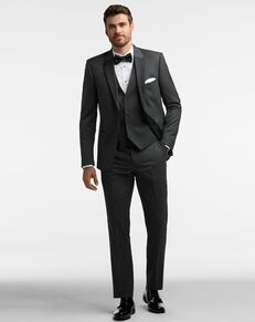 Men's Wearhouse Calvin Klein Charcoal Gray Performance Wool Tux Tuxedo