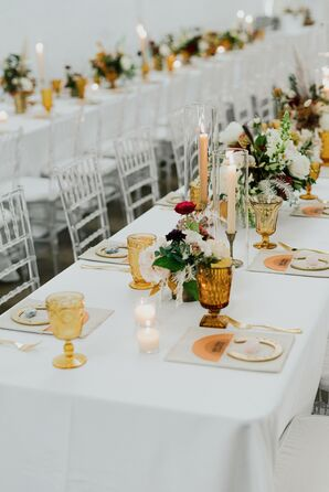 Wedding Reception Décor at The Space HTX in Houston, Texas
