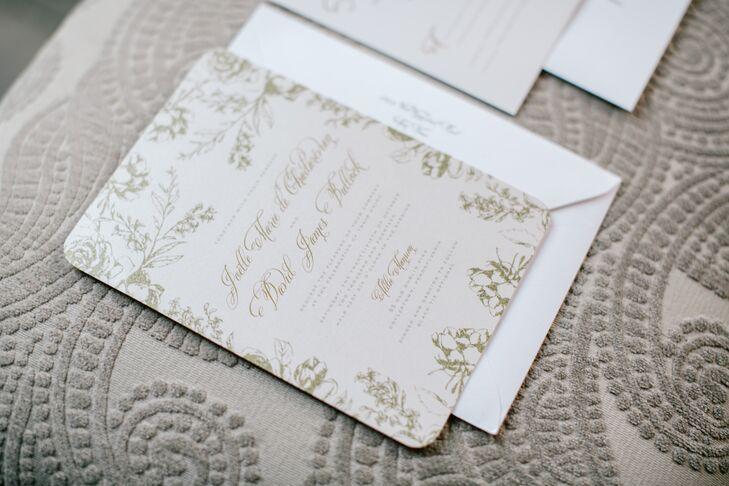 Romantic Silver Wedding Invitations from Wedding Paper Divas