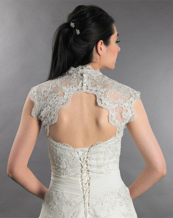 Tulip Bridal Sleevless Ivory Lace Bolero Jacket with Keyhole Back Wedding Jackets photo