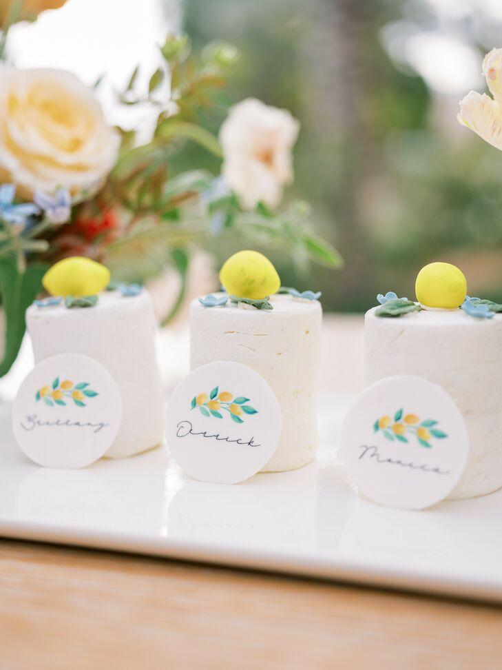 Mini Cakes with Lemon Accents for Wedding in Coachella, California