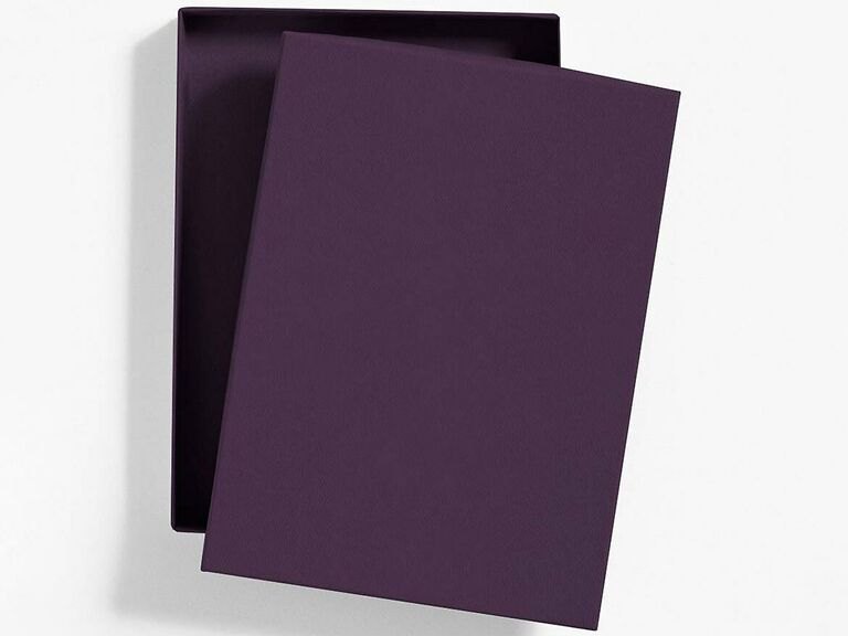 Simple aubergine box mailer