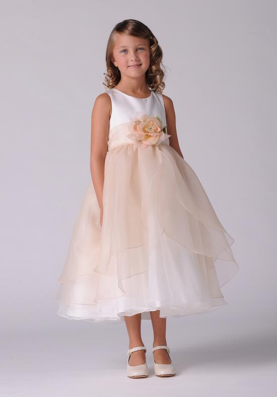 Us Angels Beautiful Color The Tulip Dress-104_Champagne Flower Girl Dress photo