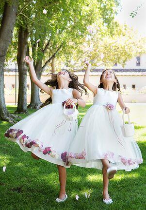 Kid's Dream 160B White,Ivory Flower Girl Dress