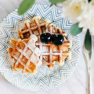 Wedding reception brunch waffles
