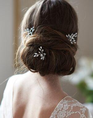 Dareth Colburn Giselle Crystal Hair Pin (TP-2837) Silver Pins, Combs + Clip