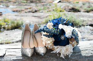 Navy Bridal Bouquet