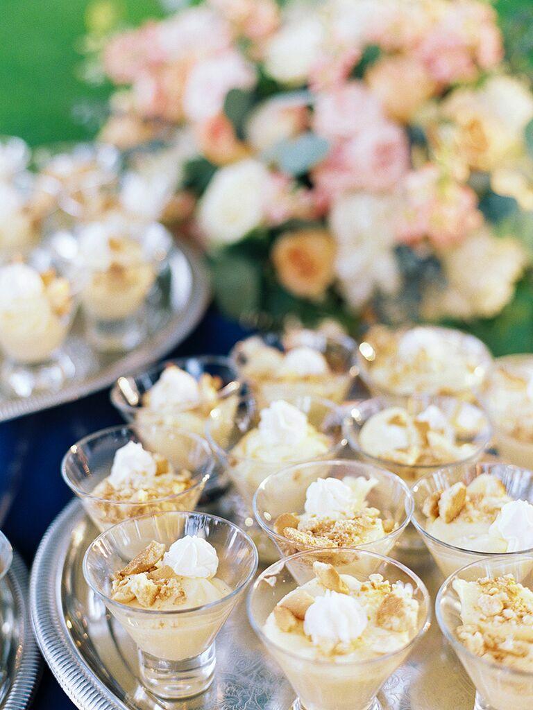 Banana pudding wedding dessert idea for a southern wedding