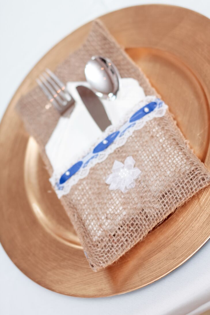 Burlap and Lace Place Setting