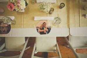 Engagement Photo Paper Charger Place Settings