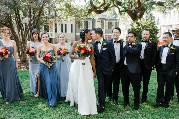 For their Southern wedding, Desiree and Pedro chose a bright, vibrant aesthetic to complement their romantic garden ceremony while highlighting the ch