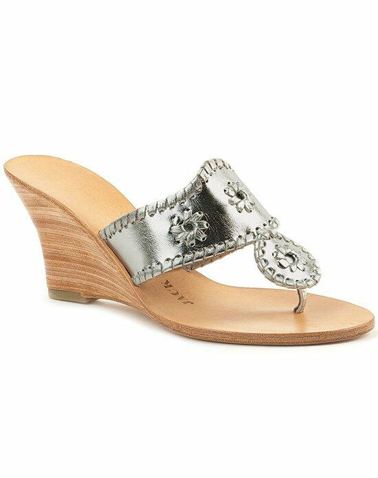 Jack Rogers Hamptons Hi Wedge-Silver Wedding Shoes photo
