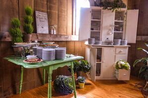 Rustic Green, Gray, and Ivory Furniture Decor and Dishware