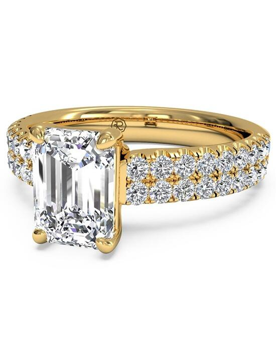 Ritani Emerald Cut Double French-Set Band Engagement Ring in 18kt Yellow Gold (0.59 CTW) Engagement Ring photo