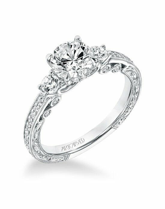 ArtCarved 31-V688ERW-E Engagement Ring photo