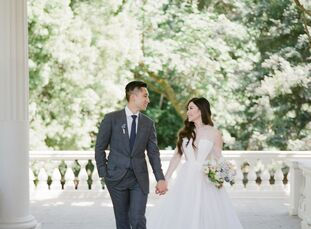 """Grace and Andrew """"wanted nothing more than to have their wedding at a luxury chateau in the south of France. But with the groom finishing up his medic"""