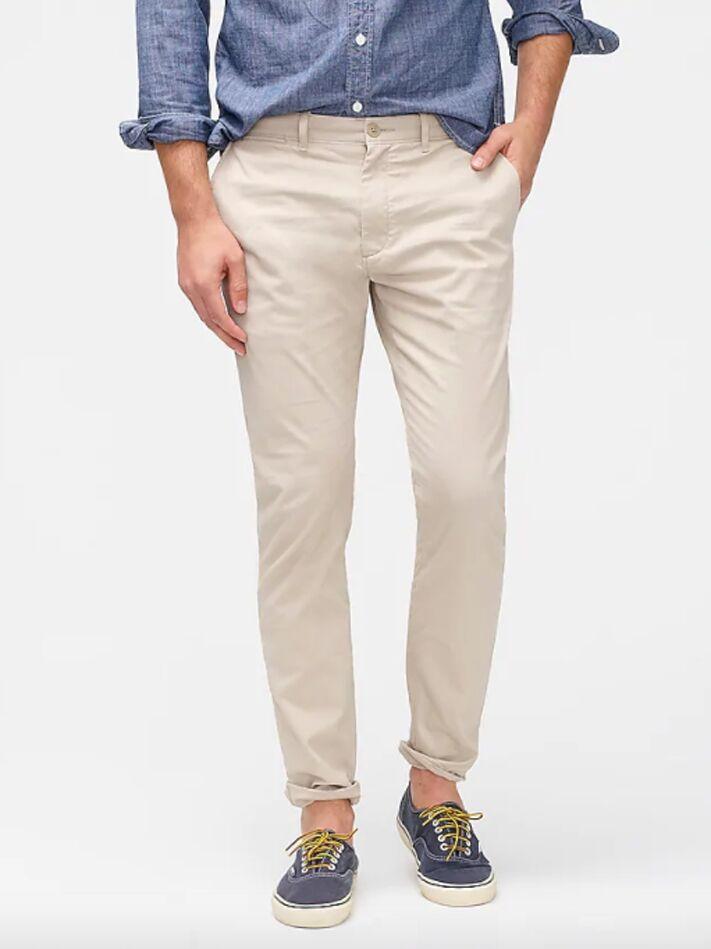 Light tan chino pants