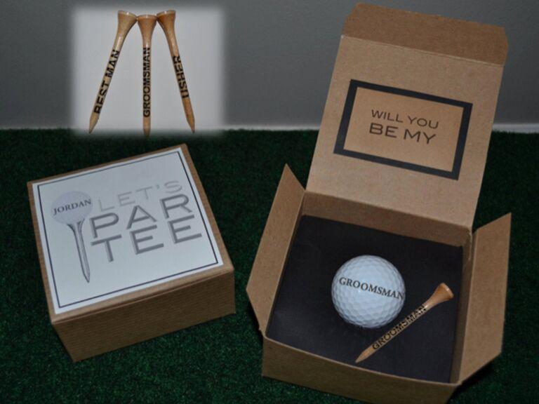 Golf groomsmen proposal box