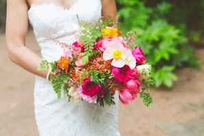 Whimsical Bright Modern Pink Bouquet
