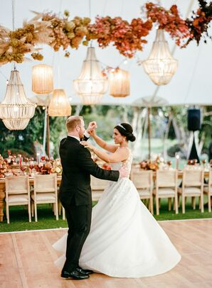 Bride and Groom Share First Dance in San Diego, California
