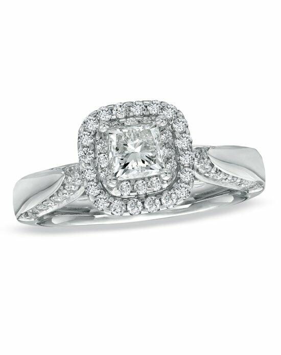 Vera Wang LOVE at Zales Vera Wang LOVE Collection - 7/8 CT. T.W. Princess-Cut Diamond Double Frame Engagement Ring in 14K White Gold  18637686 Engagement Ring photo