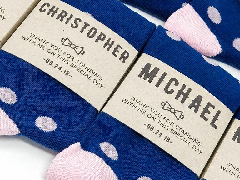 custom groomsmen socks