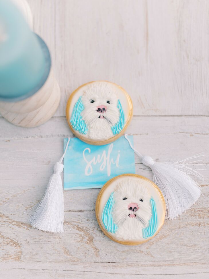 Dog-Themed Cookie Favors at Beach Wedding in San Diego