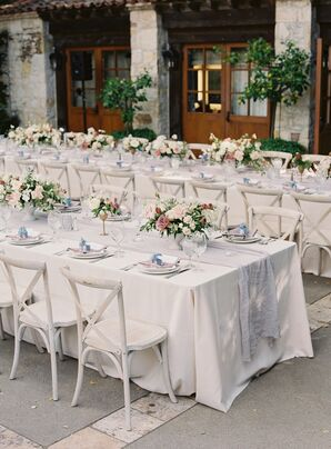Gray-and-White Reception Décor at Holman Ranch in Carmel Valley, California