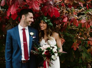While planning their November nuptials, Saturn Os (29 and a manicurist) and Casey Arcese (34 and an electrical engineer) recognized the need for a fus