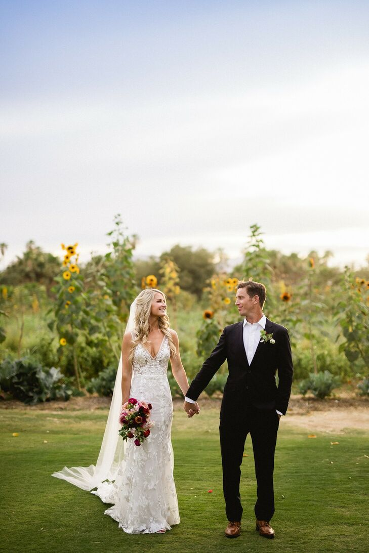 During their first year of dating, Nina Rushing and Nick Sacks went on a vacation to Cabo, Mexico, and visited Flora Farms—and Nina immediately knew s