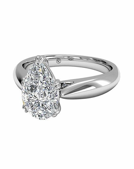 Ritani Pear Shaped Solitaire Diamond Tulip Cathedral Engagement Ring in Platinum Engagement Ring photo