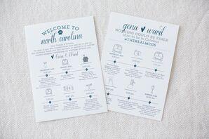 Custom Illustrated Wedding Event Schedule