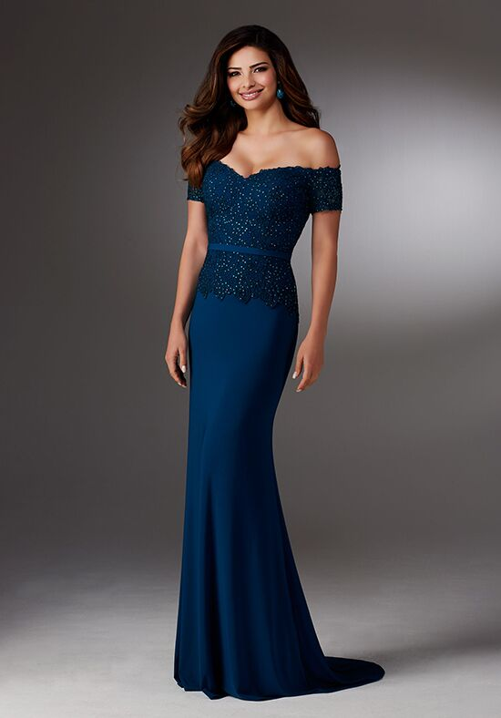 MGNY 71517 Brown,Blue Mother Of The Bride Dress