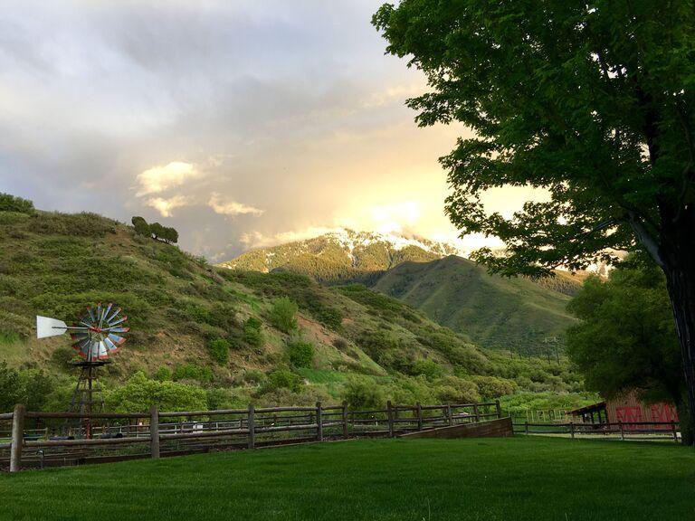Wedding venue in Mapleton, Utah.