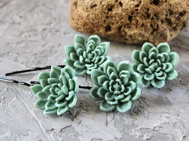 Succulent bobby pins