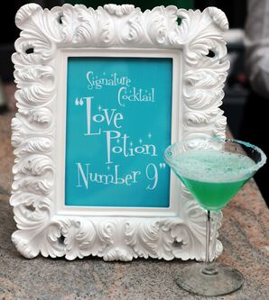 Turquoise and Green Signature Cocktail