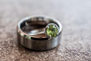 Peridot Gemstone Engagement Ring