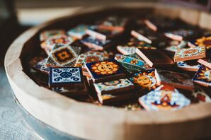 Authentic Mexican Tiles as Favors