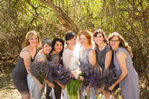 Silver and Gray Bridesmaid Dresses