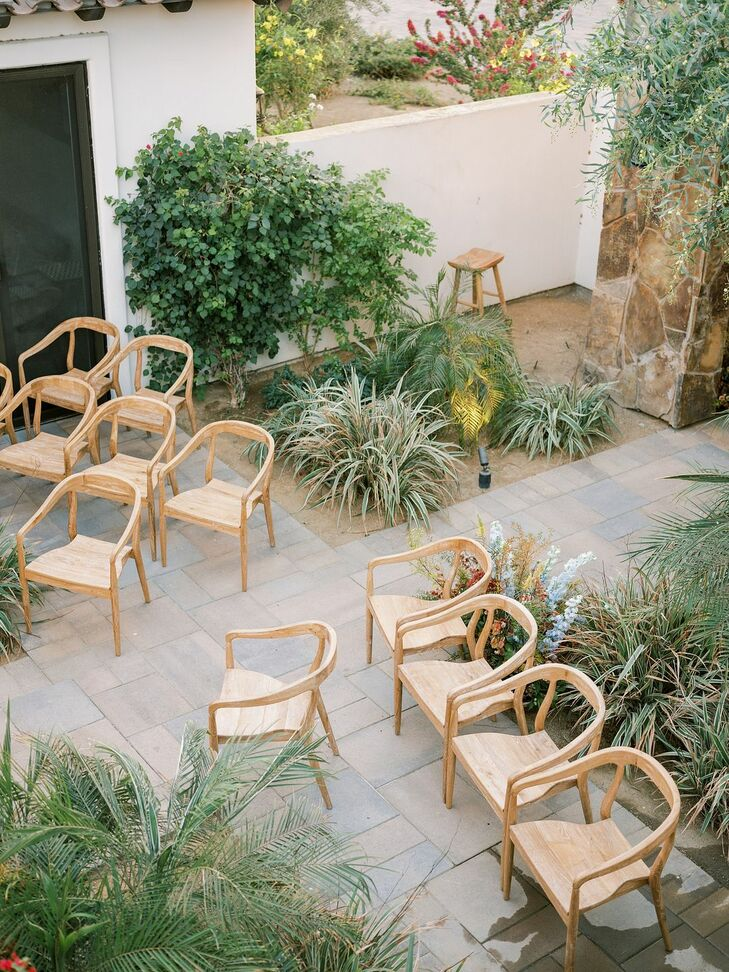 Wood Chairs for Ceremony in Coachella, California