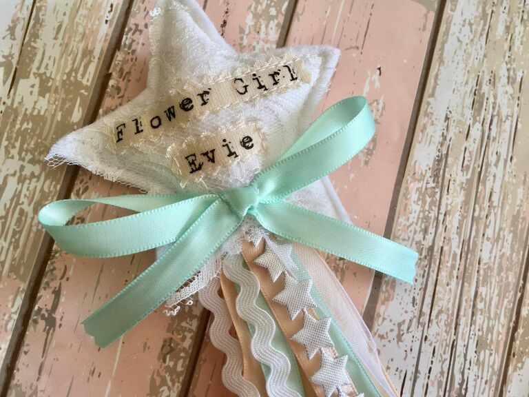personalized flower girl wand