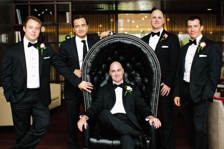 Traditional Black Tuxedoes with Black Bowties
