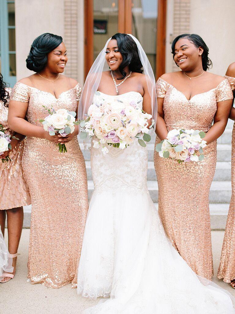 Sequin bridesmaid dresses