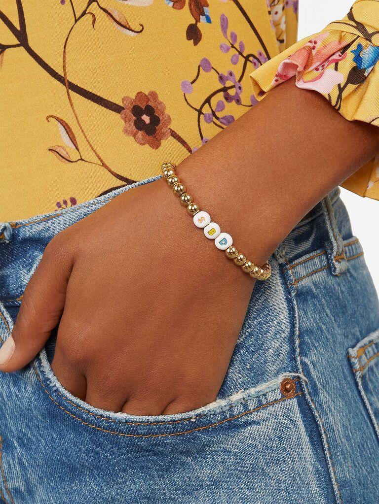 Cute beaded friendship bracelet for bridesmaids